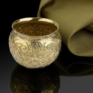 An extremely rare silver gilt Bratina/tumbler cup, Nuremberg c.1600