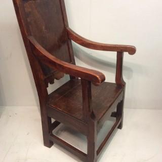 Elm country armchair