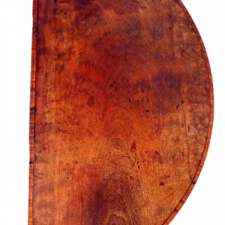 Antique Georgian Mahogany Demi Lune Card Table