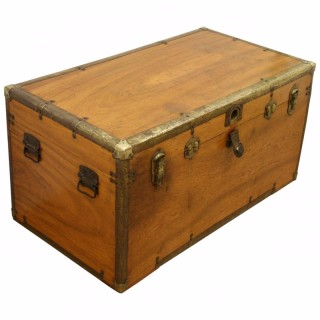 Victorian Camphor Wood Travelling Trunk