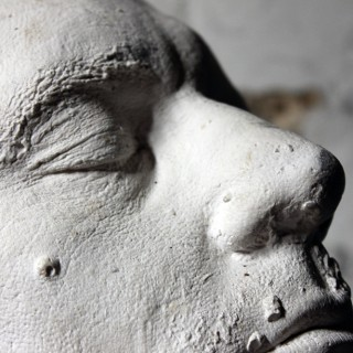 A Good 20thC Plaster Death Mask of a Bearded Gentleman