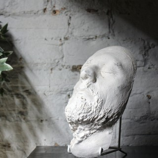 A Good 20thC Plaster Death Mask of a Bearded Gentleman