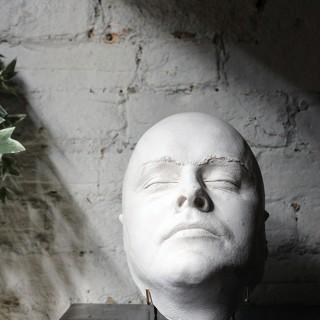A Good 20thC Plaster Death Mask of a Burly Gentleman