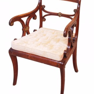 Antique Regency Rosewood Carver Armchair