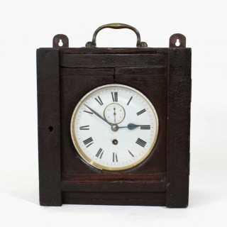 Timepiece Brass Clock dated c.1900 with Boer War history