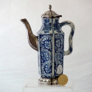kangxi hexagonal Blue and White Porcelain Ewer