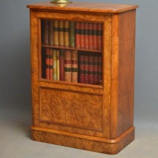 Elegant Victorian Burr Walnut Bookcase