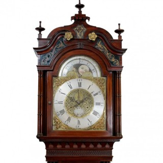 Fine Mahogany Longcase with Centre Date and Centre Seconds, by Clifton, Liverpool