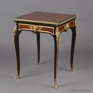 A Gilt-Bronze Mounted Parquetry Envelope Card Table