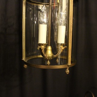 A French Pair Of Triple Light Antique Lanterns