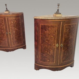 Pair of Louis Philippe corner cabinets