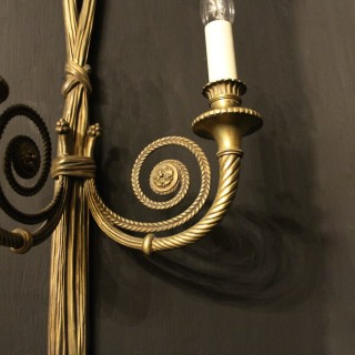 A French Set Of 4 Rope Antique Wall Lights