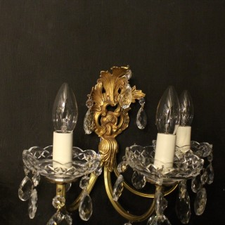A French Set Of 4 Triple Arm Antique Wall Lights