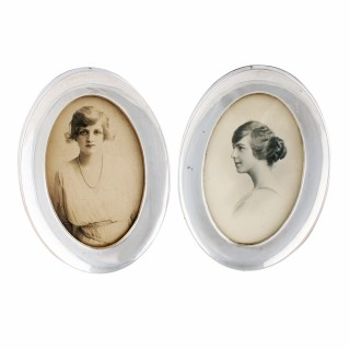 Pair of Sterling Silver Photo Frames