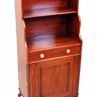 Antique Regency Mahogany Waterfall Bookcase