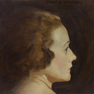 Portrait of the artist's wife Mary c 1920 by Sidney Dickinson (1890-1980)