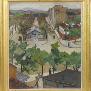 'Continental Square' Oil on canvas c 1925 by Daphne Maugham Casorati (1897-1982)
