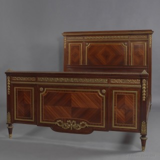 Louis XVI Style Gilt-Bronze Mounted Double Bed