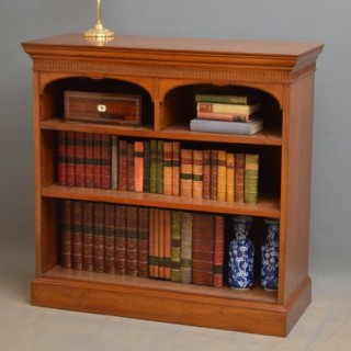 A Victorian Solid Walnut Open Bookcase