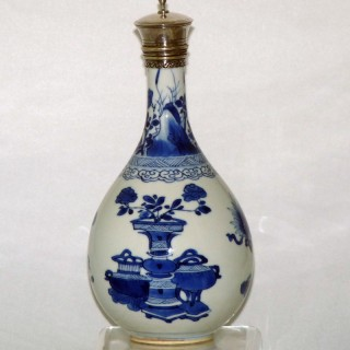 kangxi Blue and White Porcelain Bottle vase