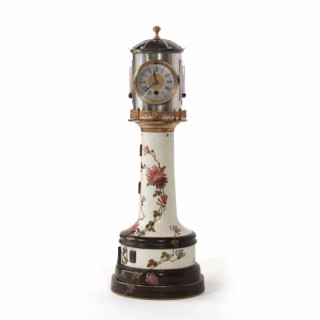 1880s Rare Porcelain Lighthouse Clock