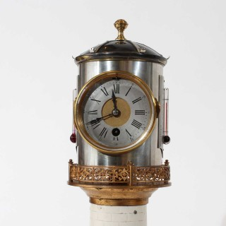 1880s Rare Porcelain Lighthouse Clock
