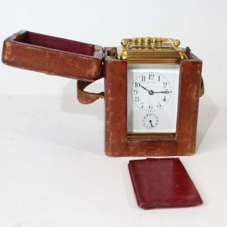 Small Striking Carriage Clock with repeat & alarm functions