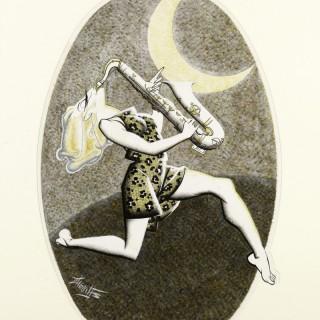 Robert Stewart Sherriffs (1906-1960) - The Cabaret Star - Frances Day