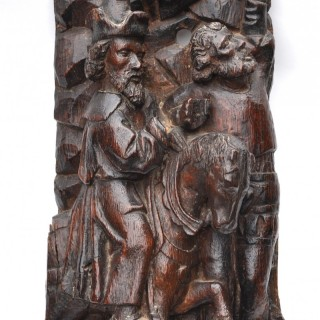 Early 16th century oak carving of St Longinus