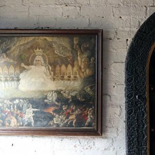 A Quite Magnificent 18thC English School Oil on Canvas; The Last Judgement c.1790