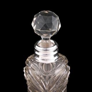 Edwardian Cut Crystal Perfume Bottle