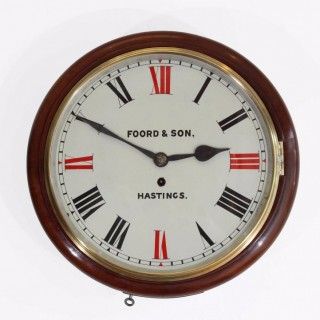 Timepiece Fusee Dial Clock, Foord & Son