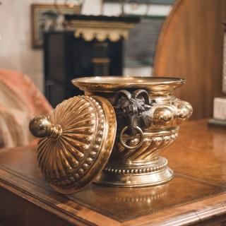 19th Century Brass Wine Cooler