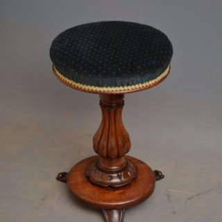 William IV Mahogany Piano Stool