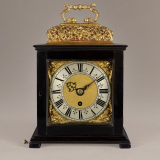 Samuel Watson, London, a fine ebony basket top timepiece circa 1750