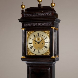 RICHARD STREET, London . A  fine Queen Anne (c.1705) ebonised 8-day longcase clock by this important clockmaker