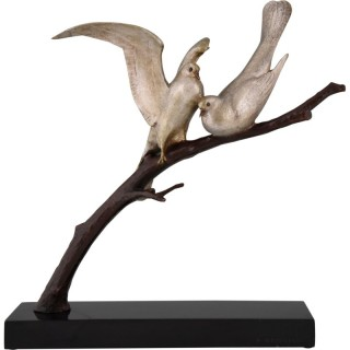 Art Deco bronze bird sculpture.