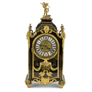 Tortoiseshell Boulle striking bracket clock