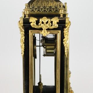 Tortoiseshell Boulle striking bracket clock