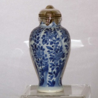 kangxi Blue and White porcelain baluster vase