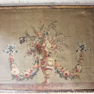 A Large & Beautiful Gilt Framed Louis XVI Tapestry Overdoor c.1760-80