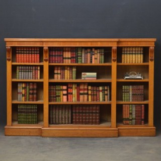 A Victorian Oak Open Bookcase
