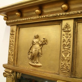 George IV Gilded Triptych Overmantel Mirror