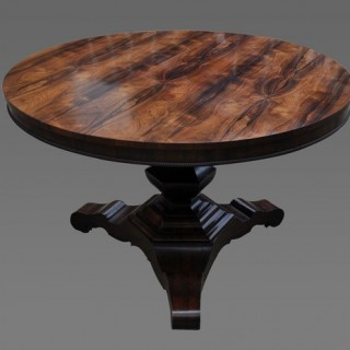 Fine quality Rosewood Circular Center Table