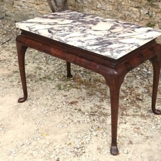 Important Early 18th Century Oak and Marble Console Table