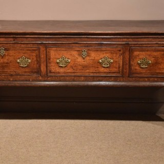 A George II Oak Dresser Base