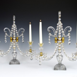 AN IMPORTANT PAIR OF ENGLISH GEORGE III PERIOD CANDELABRA BY LAFOUNT