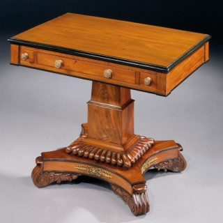 A Mahogany William IV Games Table