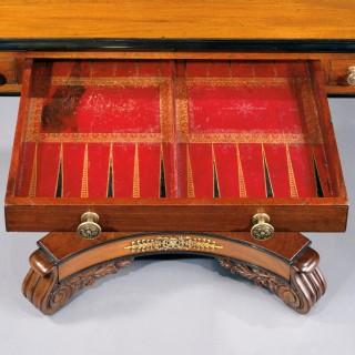 A Mahogany William IV Games Table