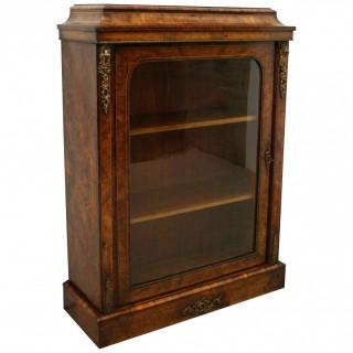 Early Victorian Burr Walnut Pier Cabinet